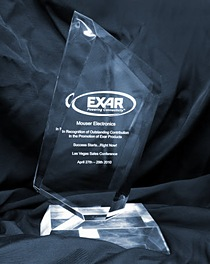 Mouser's Exar Award for Outstanding Contribution in New Product Promotions