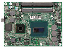 Portwell's PCOM-B630VG: A Type 6 COM Express module featuring 4th generation Intel Core processor and Mobile Intel QM87 chipset; up to 32GB ECC DDR3L 1333/1600 MT/s SDRAM; 3 independent displays via DP (DisplayPort), HDMI or DVI and VGA; PCI-E Gen 3 supports 1 x16 or 2 x8, or 1 x8 and 2 x4; Gigabit Ethernet; SATA 300; USB 3.0
