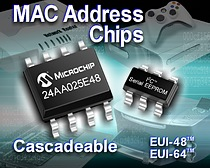 Microchip Expands Its EUI-48(tm) Family With Cascadeable I2C