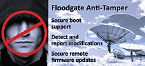 Firmware, configuration files and static data are protected from unauthorized modification by Floodgate Anti-tamper