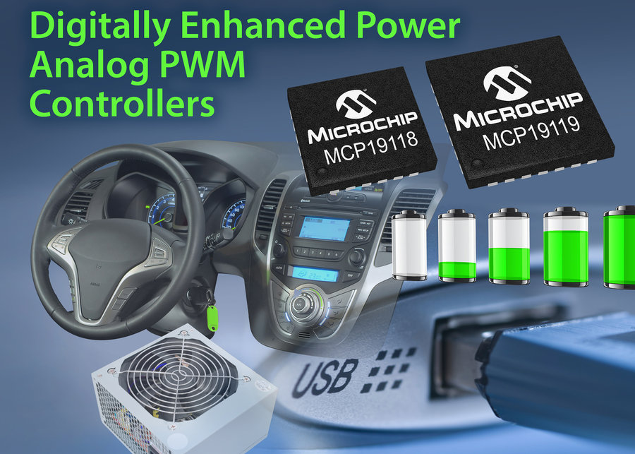 New Digitally Enhanced Power Analog Controllers From Microchip Offer