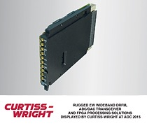Rugged EW Wideband DRFM, ADC/DAC Transceiver and FPGA Processing Solutions Displayed by Curtiss-Wright at AOC 2015