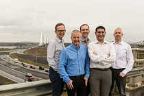 Konrad-Technologies UK - From left to right: Neil Clark, Malcolm Campbell, Robin Irwin, Nadeem Dar, David Mitchell