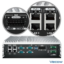 Vecow ECS-9000 with 4 PoE+ & Isolated DIO in rear side