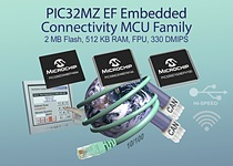 PIC32MZ EF\'s combination of DSP instructions, a double-precision FPU and a high-speed ADC improves code density, decreases latency and accelerates performance in process-intensive application