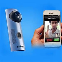 Wi-Fi-enabled doorbell streams live video of front doorstep directly to smartphone
