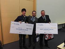 Winners of the Toradex Embedded Design Challenge with their prizes