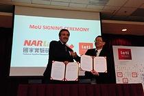 Leti and NARLabs signing MoU Emmanel Sabonadiere and Wu Kuang-Chong