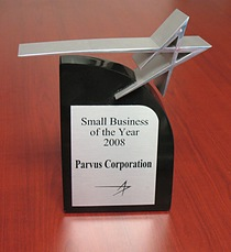 Parvus Receives Small Business of the Year Award
