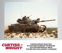Curtiss-Wright Selected by Raytheon Company to Provide Electro-Mechanical Drive for M60 and Challenger 1 Upgrades