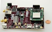 """Sundance's EMC2-KU35 """"OneBank"""" PC/104-compatible I/O board"""