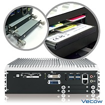 Vecow ECS-9160 LAN Switch System supports front-access SIM Card sockets, CFast Card slot and SSD trays