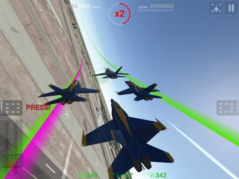 Blue Angels flight simulator gaming app available for the