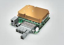 The Mini-STX form factor (aka 5x5 with a footprint measuring 140mm × 147mm) is an ideal fit for Server-on-Modules and 10GbE network connectors for copper or fibre channel