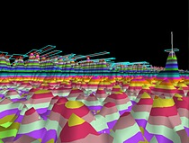 3D Doppler view of Blighter\'s sea clutter detection with separate target RGB