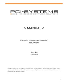The PCIe to 3U VPX manual can be downloaded HERE
