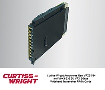 Curtiss-Wright announces new VPX3-534 and VPX3-535 3U VPX 6GSPS Wideband Transceiver FPGA Cards