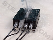 Model: WPC-500F - Water being drenched on unit