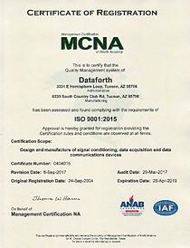 Dataforth\'s ISO 9001:2015 Certification