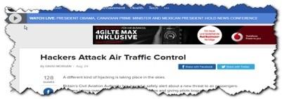 Hackers attack air traffic control (via ABC News)