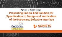 Agnisys at DVCon Europe