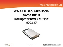 Presentation about the features 800.107  3U 500W PS