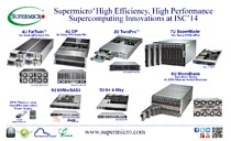 Supermicro® Highlights High Efficiency, High Performance Supercomputing Innovations at ISC'14