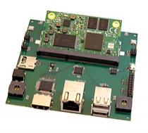 Gumstix expansionboard for MitySOM-335x custom designed in Geppetto D2O